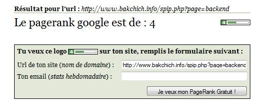 pagerank backchich rss
